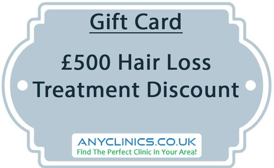 giftcard hair loss discount